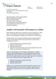 Avgifter och kostnader vid transport av avliden - Region Halland