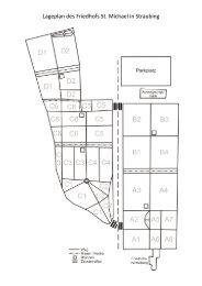 Lageplan des Friedhofs St. Michael in Straubing - der Pfarrei St ...