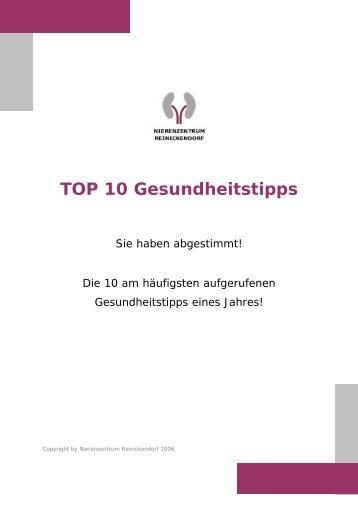 TOP 10 Gesundheitstipps - Nierenzentrum-reinickendorf.de
