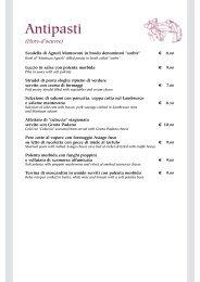 scarica il nostro menu - Ristorante Masseria