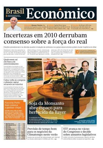 BrECO_72 (QUARTA) : Plano 40 : 1 : CAPA - Brasil Econômico