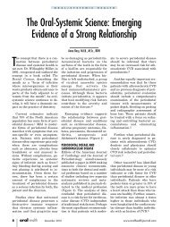 The Oral-Systemic Science: Emerging Evidence of a ... - Oravital
