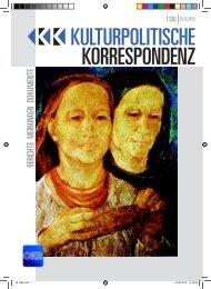 KULTURPOLITISCHE KORRESPONDENZ - Kulturportal West Ost