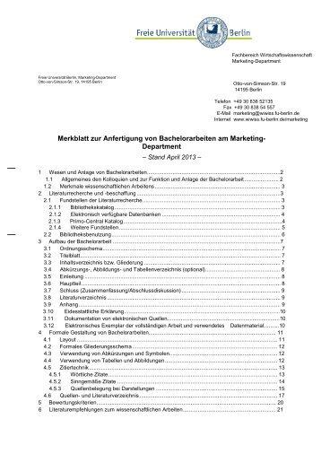 Merkblatt zur Anfertigung von Bachelorarbeiten am Marketing ...