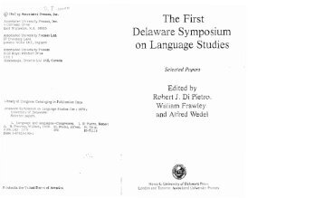 "The First on Language Studies"" - Georgetown University"
