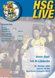 Unser Gast: TuS N-Lübbecke - HSG Düsseldorf