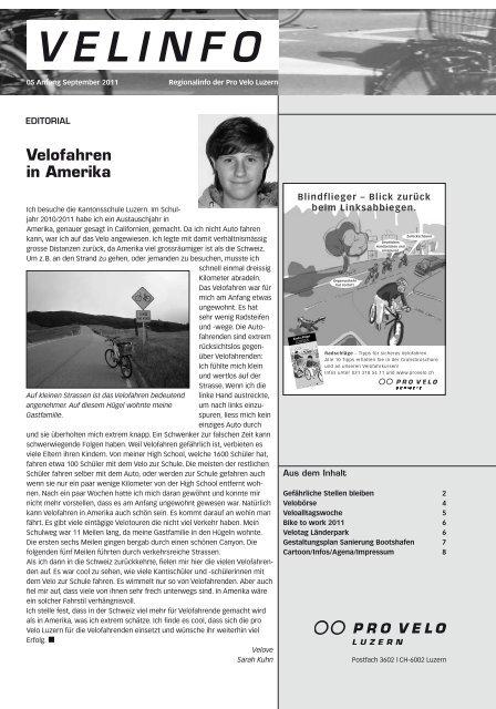 Velinfo 5/2011 - Pro Velo Unterwalden