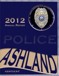 2012 annual report - Ashland Police Department