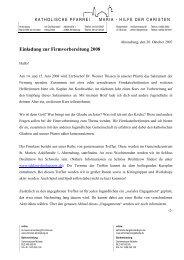 Einladung zur Firmvorbereitung 2008 - Katholische Kirche St ...