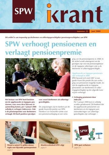 Nummer 22, juni 2008 - SPW