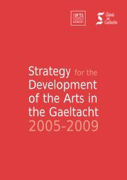 Strategy for the Development of the Arts in the Gaeltacht - Arts Council