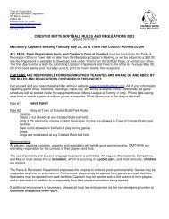 2013 Softball Rules - Crested Butte Parks & Recreation
