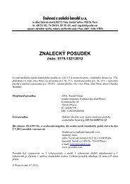 ZNALECKÝ POSUDEK číslo: 5175-1321/2012