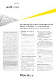 Legal News – Januar 2013 - Schweiz
