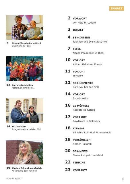Nr. 1/2013 - Sozial-Betriebe-Köln