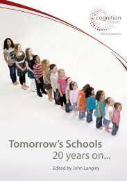 Tomorrow's Schools 20 years on... - Cognition Education Trust