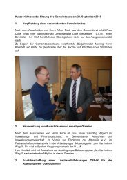 Kurzbericht aus der Sitzung des Gemeinderats am 20 ... - Meßstetten