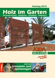 Garteneinrichtung, Gala-Bau, Konstruktionsholz Seite 124 ... - Joda