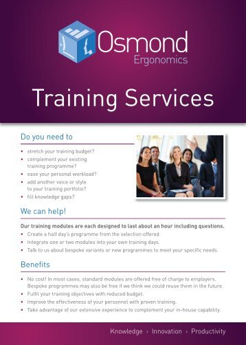 Training Services - Osmond Ergonomics