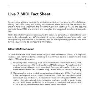 Live 7 MIDI Fact Sheet - Ableton