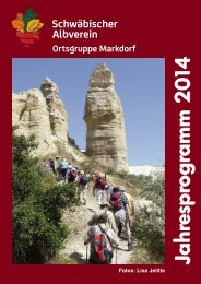 2010 Jahresprogramm - Schwäbischer Albverein, Ortsgruppe ...