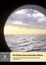 Att främja internationella affärer - Länsstyrelsen i Stockholms län