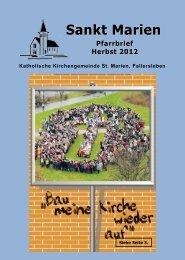 Herbst-Pfarrbrief 2012 - St. Marien Fallersleben