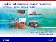 Funding Port Security -- A Canadian Perspective