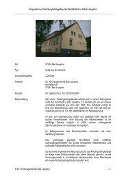 Exposé zum Kindergartengebäude Feldstraße in Bad Laasphe