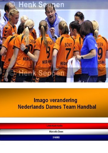 Imagoverbetering Nederlands Handbal Team