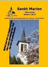 Osterpfarrbrief 2012 - St. Marien Fallersleben