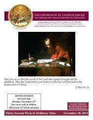 November 10, 2013 - Church of St. Francis Xavier