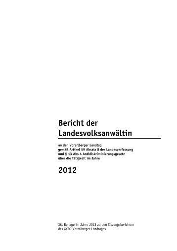 Information/Tätigkeitsberichte - Landesvolksanwaeltin von Vorarlberg