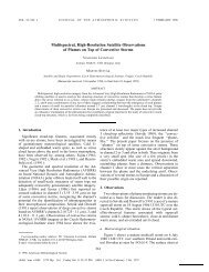 Multispectral, High-Resolution Satellite Observations of Plumes on ...
