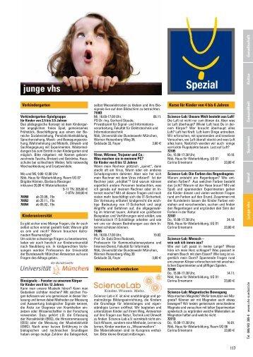 Programm Herbst/Winter 2013/14: Spezial (junge vhs u.a.)