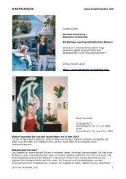 Nina Franoszek Deutsche in Amerika