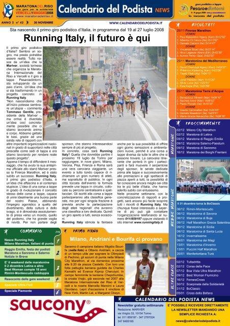 Il Calendario Del Podista.Running Italy Il Futuro E Qui Runners It