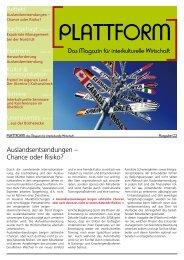 Interview - Das Magazin für interkulturelle Wirtschaft