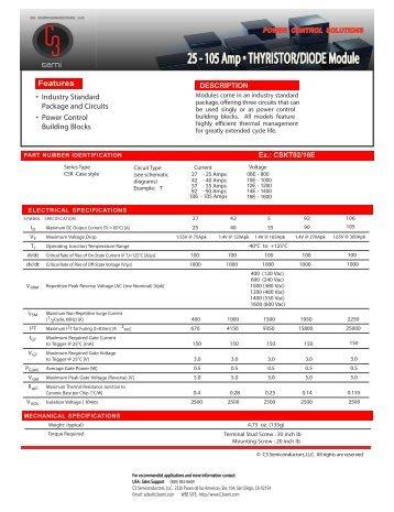 Thyristor Modules - AMS Technologies