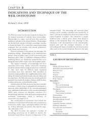 indications and technique of the weil osteotomy - The Podiatry Institute