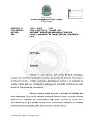 Sentença - Conselho Administrativo de Defesa Econômica