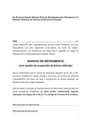 AGRAVO DE INSTRUMENTO - Polis