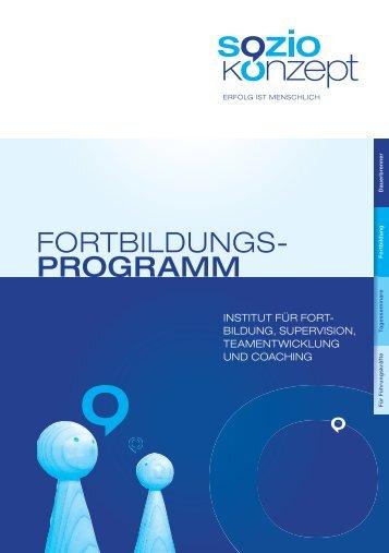 Fortbildungsprogramm - SozioKonzept