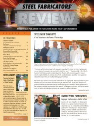 IN THIS ISSUE - Barone Steel Fabricators