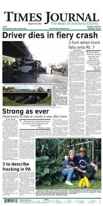 Driver dies in fiery crash - Times Journal News
