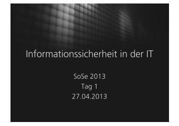 SoSe2013-Tag1 - zehndaumen