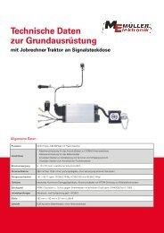 GA Jobrechner Traktor an Signalsteckdose - Müller-Elektronik