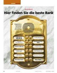 Hier finden Sie die beste Bank - Meine Bank vor Ort