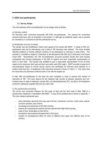 3. ESA non-participants - Agra CEAS Consulting