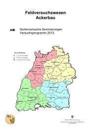 Sorten, Sortimente Sommerungen 2013 - LTZ Augustenberg